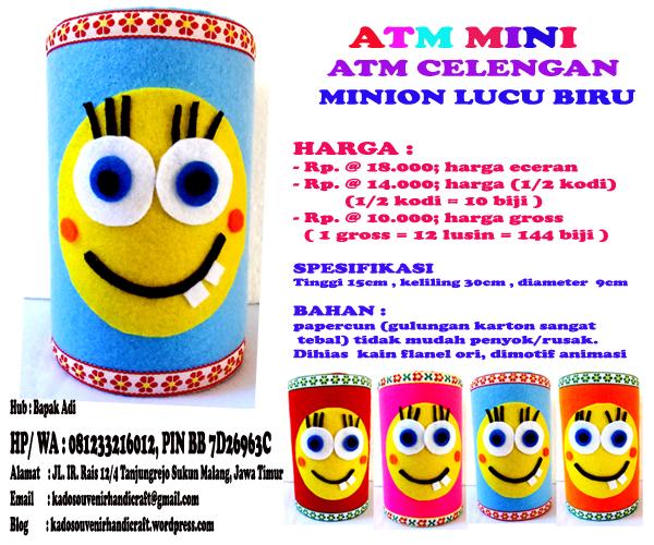 Celengan Minion Lucu Kado Souvenir Handicraft